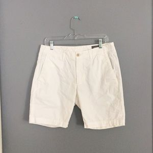 Bonobos men's cotton shorts, white, flat front